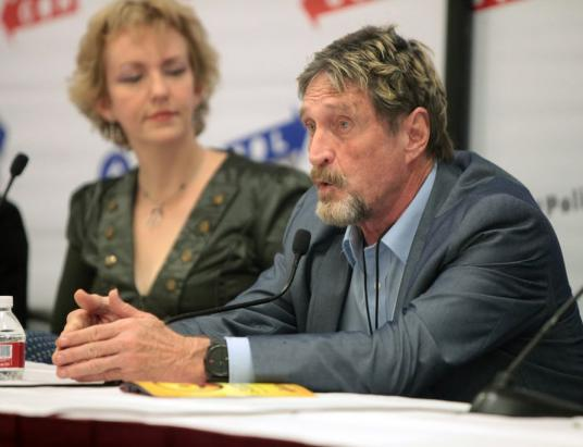 McAfee Calls Boycott for Financial Institutions Doing Business with the RBI