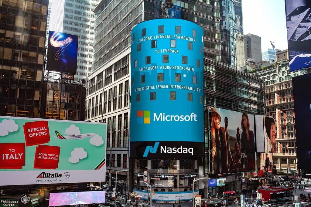 Microsoft Team Up With Nasdaq to Integrate Blockchain Services