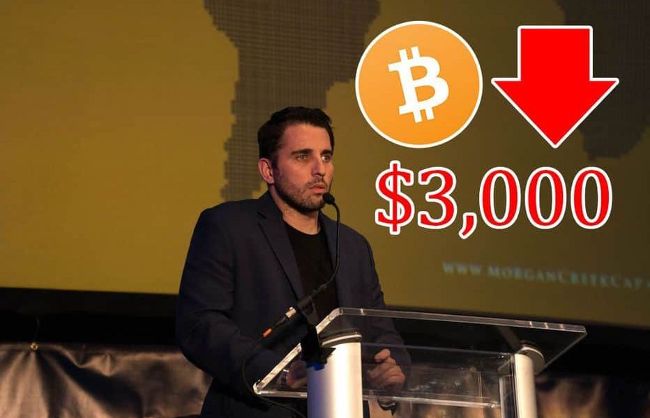 Morgan Creek Digital Assets Founder Suggests Bitcoin Could Go Below $3,000