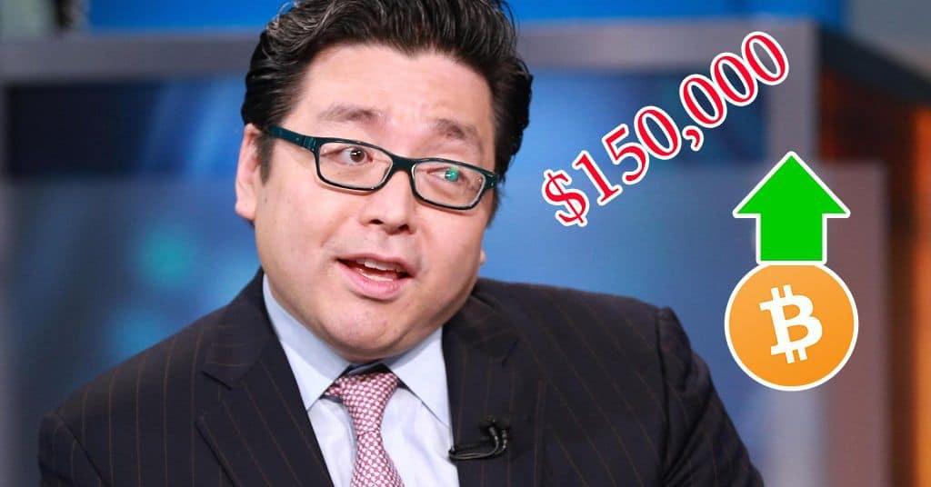 "Tom Lee Says Bitcoin's ""Fair Value"" Will Reach $150K Per Coin"