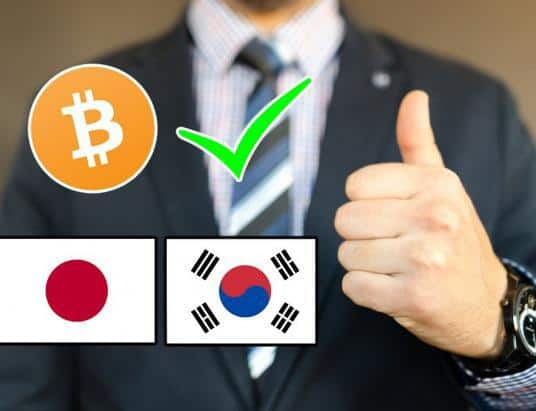 Biggest Cryptocurrency Exchanges in Korea and Japan Officially Receive Approval
