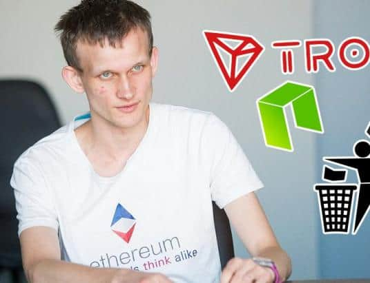 "Vitalik Buterin Projects that Claim High TPS are ""Centralized Piles of Trash"""