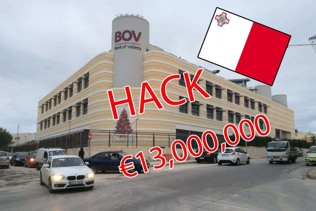 Hackers Stole 13 million Euro From One Of The Largest Banks On Malta