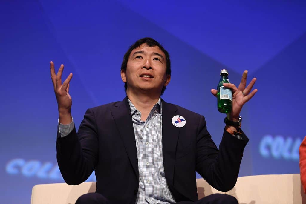 Andrew Yang Supports Blockchain, Could He Be President