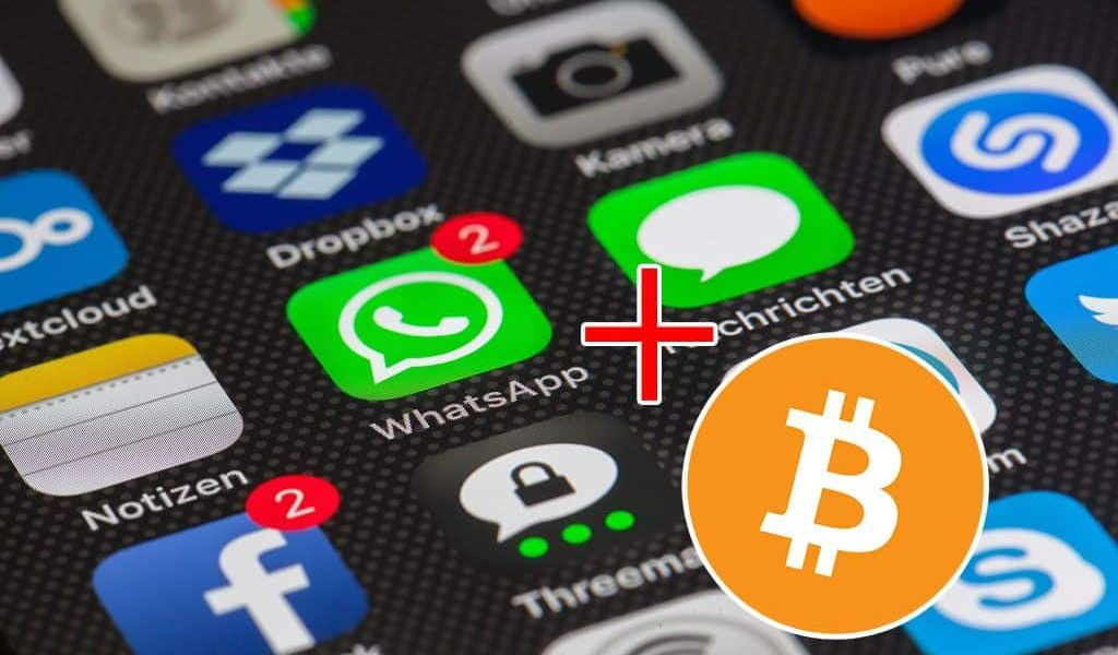 Pay People in Bitcoin Through WhatsApp Mass Adoption on Its Way