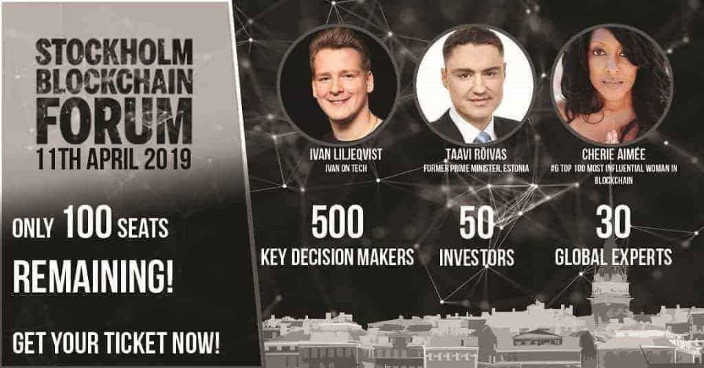 Stockholm Blockchain Forum Almost Sold Out