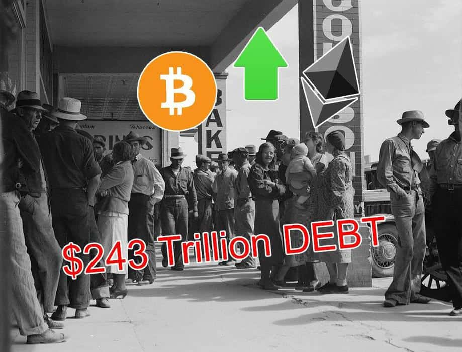 $243 Trillion Global Debt, One of the Reasons to Own Crypto