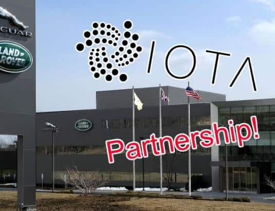 IOTA Sees Sharp Price Increase After Announcement of a Partnership with Jaguar Land Rover