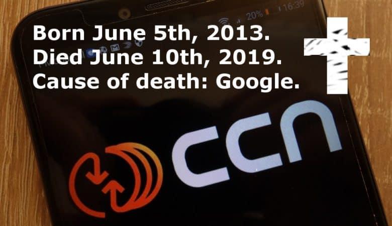 CCN shuts down following Google update
