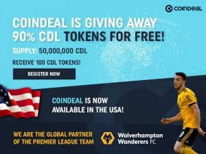 CoinDeal Celebrates Premier League Sponsorship & US Entry with New Token Launch