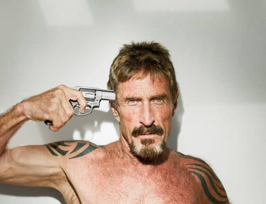 John McAfee Argues It's Not Crypto Firms Responsibility to Prevent Crypto Crime